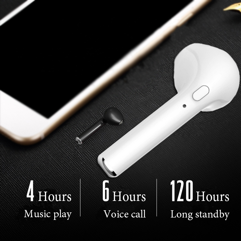 HBQ I7 In-Ear Wireless Earphone Bluetooth Sport Headset Invisible Music Earbud With Mic For iPhone Apple Samsung Xiaomi Huawei