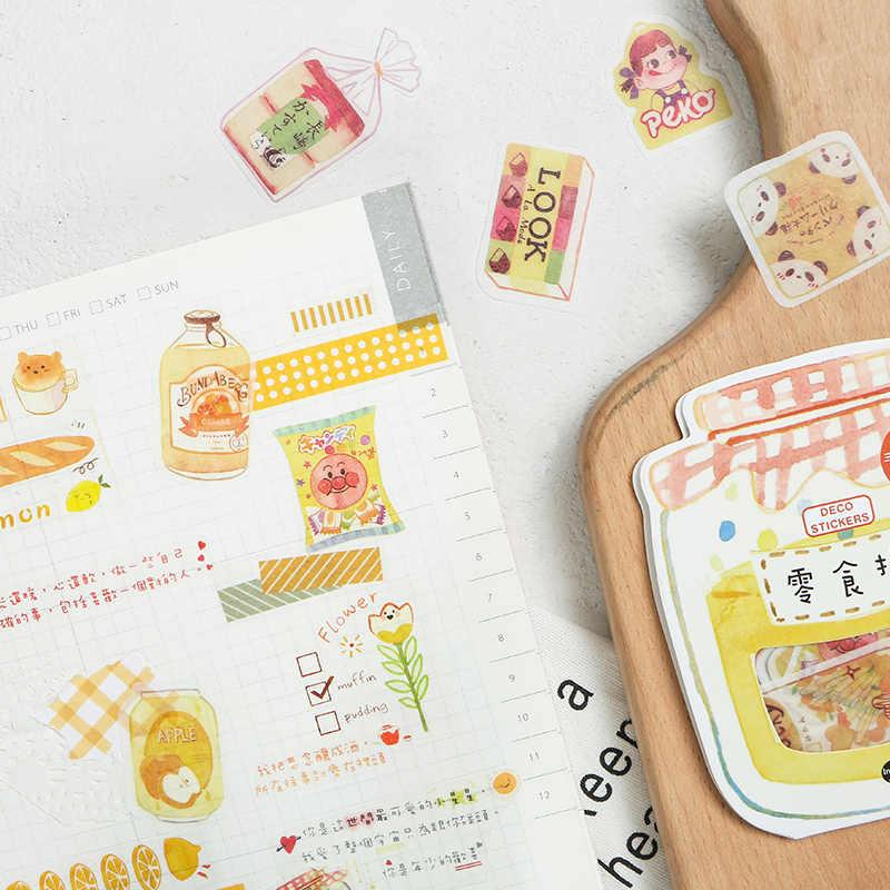 Bocadillos japoneses etiquetas de papel con pegatina artesanías pegatina decorativa para álbum de recortes Diy Kawaii papelería pegatinas