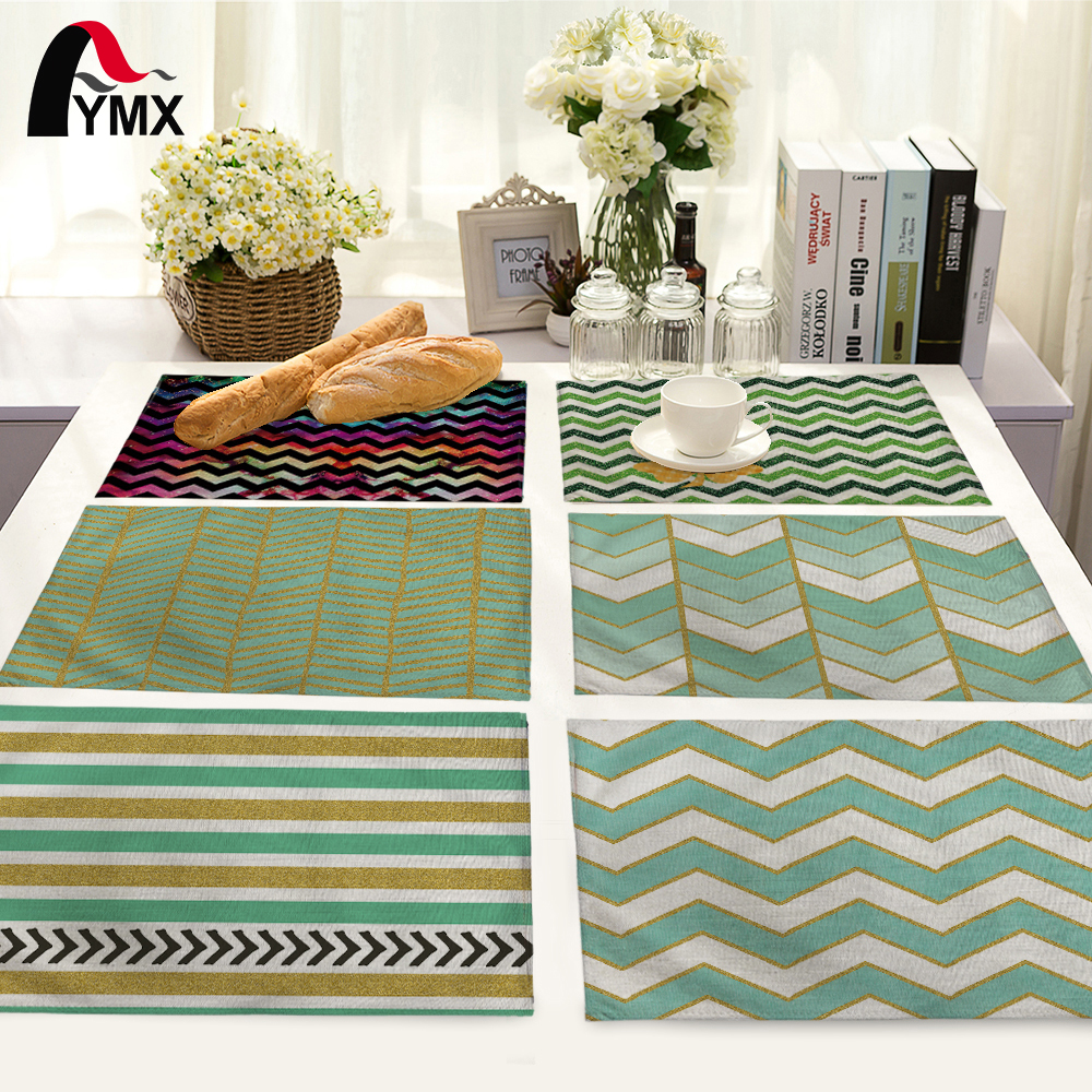 Simple Geometric Stripes Pattern Table Mat Table Napkin For Wedding Fashion Home Kitchen Decoration Dinner Tea Coffee Table Mat