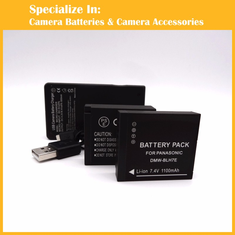 DMW-BLH7E 2xbattery+charger-2