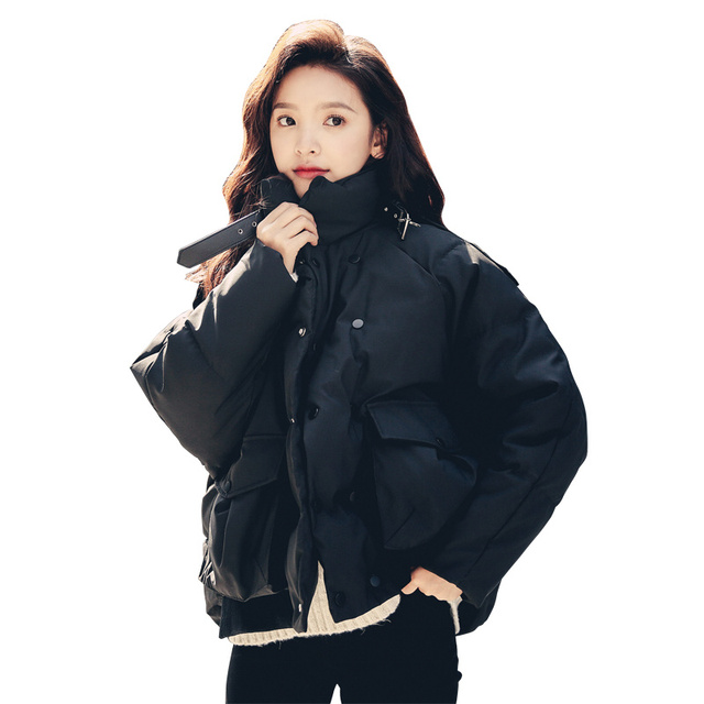 Female Jacket BF Style Thick Short Bread Winter Coat Women Manteau Femme Hiver Cotton Padded Winter Jacket Warm Outerwear C5137