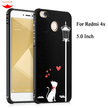 5.0″ 16GB Case For Xiaomi Redmi 4X 4 X Coque Full Protection Cartoon Relief Painting Soft TPU Silicone For Redmi 4X Case Cover