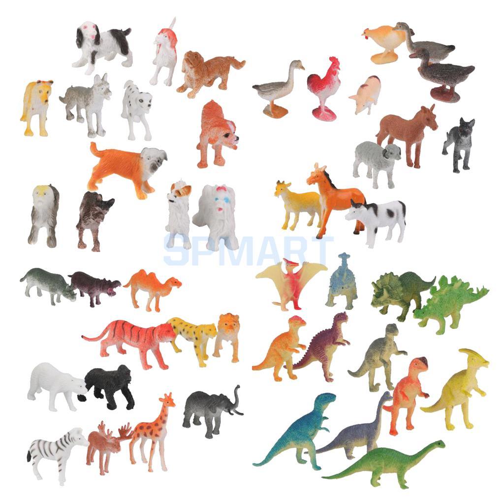 12pcs Plastic Wildlife//Farm Zoo Animal Model Action Figure Kids Educational Toys