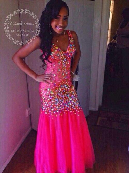 Popular Hot Pink Black Prom Dress-Buy Cheap Hot Pink Black Prom ...