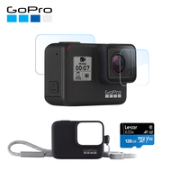GoPro HERO7 Black Waterproof Digital Action Camera with GoPro Sleeve + Lanyard + 128GB Memory card + Screen Protector