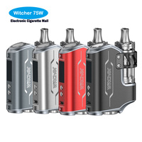 High Quailt Authentic Rofvape Witcher 75W BOX MOD Kit Electronic Cigarette 5 5ML Submerged Atomizer Vaporizer