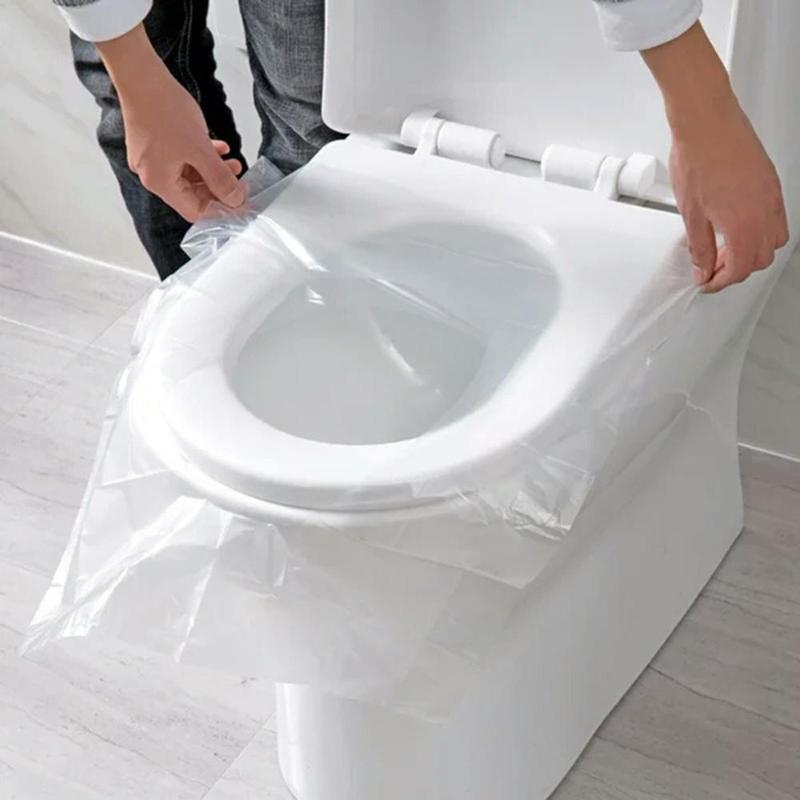 50pcs Portable Disposable Toilet Seat Cover Safety Toilet Paper Mat Cushion Bathroom Accessories for Travel Bathroom