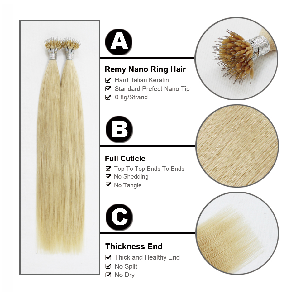 FOREVER HAIR European Straight Keratin Micro Beads Matu 0.8g / s 16 - Cilvēka mati (baltajiem) - Foto 5