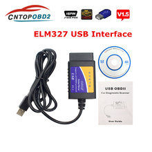 Special Offer Elm327 v1.5 USB Diagnostic Cable ELM 327 V1.5 USB Auto Scanner Code Reader With OBD2 Protocols For Windows 7 8 XP(China)