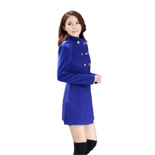 2017 Female Sweet Stand Collar Women's Down Jacket Women Clothing Winter Coat Women Solid Long Sleeve Coat 4