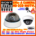 "Limited 1/3""Sony CCD Effio-A 800/900TVL Analog 960H Hd Cctv Dome Camera Infrared IR 22Leds Night Vision 30m OSD Meun Color Video"