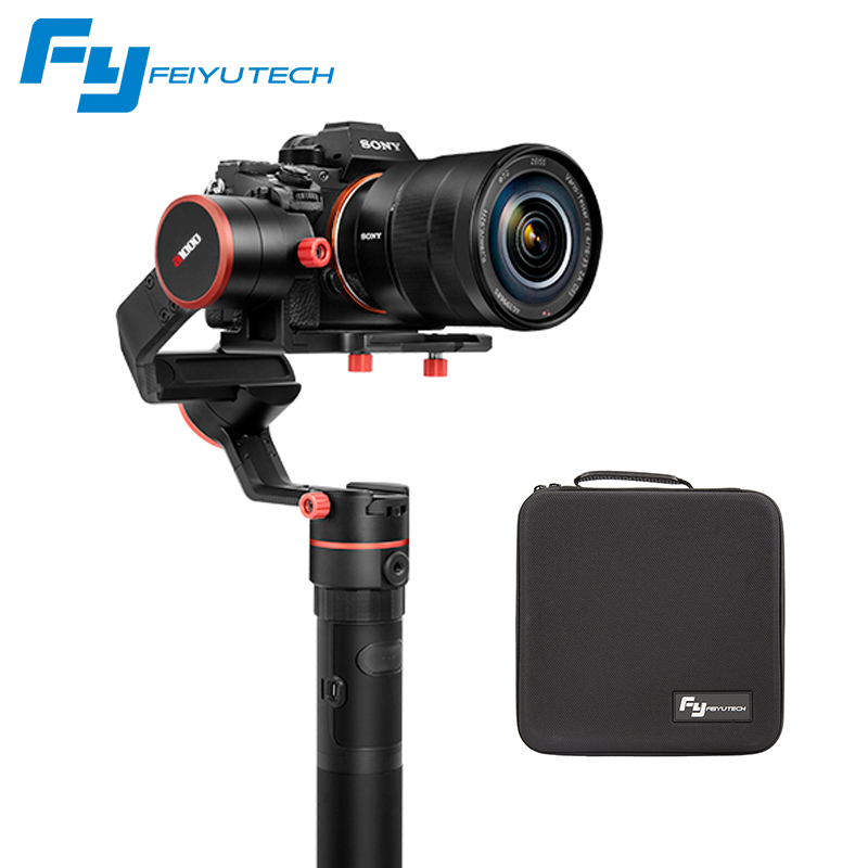 FeiyuTech feiyu a1000 3 Axis Gimbal Stabilizer Handheld for NIKON SONY CANON DSLR Camera Gopro Action Smartphone 1.7kg Payload 12mp 980 mah handheld steadygrip 4k camera 3 axis gimbal x3 for osmo kit