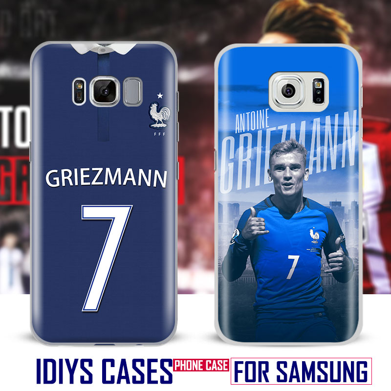For Samsung Galaxy S4 S5 S6 S7 Edge S8 Plus Note 2 3 4 5 C5 C7 A8 A9 Antoine Griezmann Coque Phone Case Shell Cover Bag