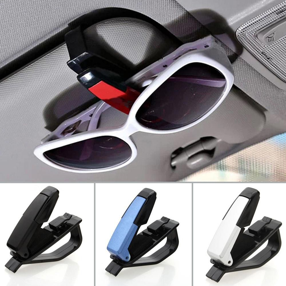 SEKINNEW 1Pcs Multi-Function Glasses Case Auto Car Accessories Sunglass Eyeglasses Glasses Holder Card Pen Ticket Clip