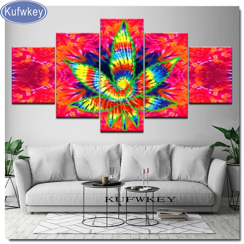 5 pcs full square diamond 5D DIY diamond painting abstract Mandala flower embroidery cross stitch rhinestone mosaic painting