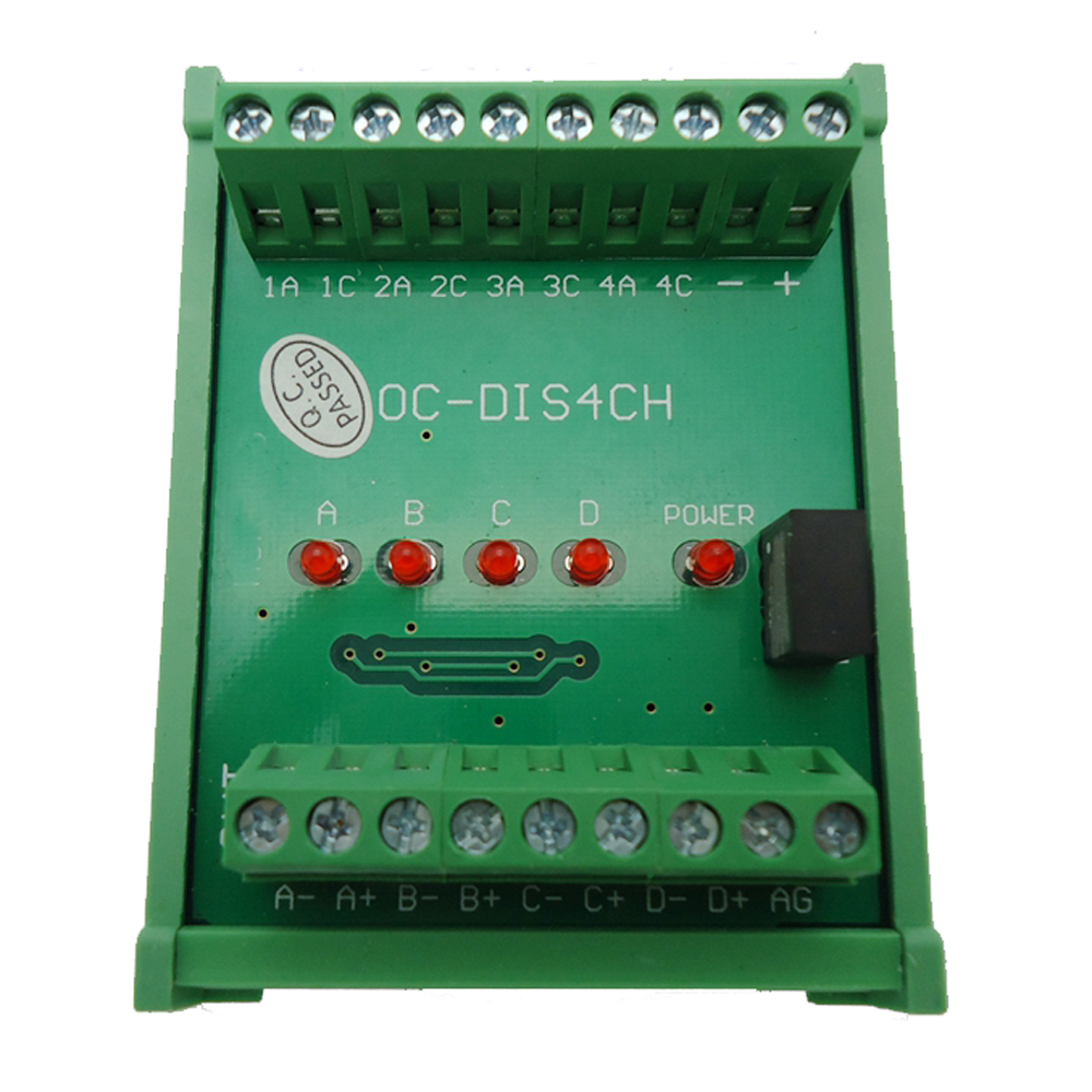 4 Channels Converter Terminal Blocks Board Open Collector HTL into Differential TTL Signal 2MHz