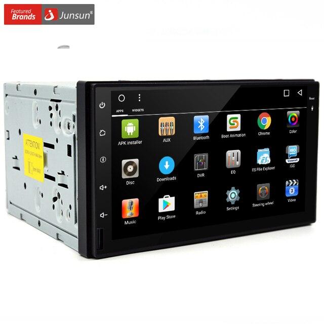 Junsun Автомобильный DVD 2 din GPS Универсальный Android 4.4 Quad Core 16 ГБ с Микрофоном GPS Навигации Bluetooth Радио Стерео Аудио Плеер Junsun