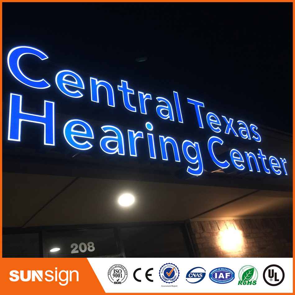 Stainless Steel Channel Letter Led Front Lit Letters