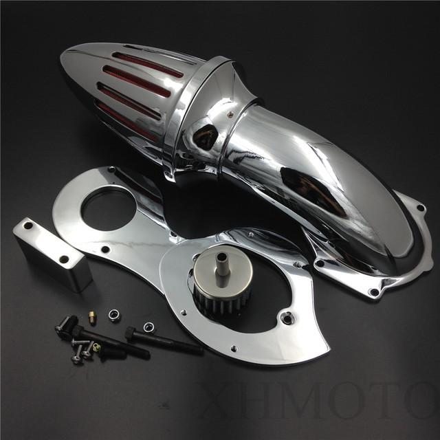 Reposição frete grátis peças da motocicleta de Ar Kits Cleaner filtro de entrada para Honda Shadow 600 VLX VLX600 1999-2012 Chrome