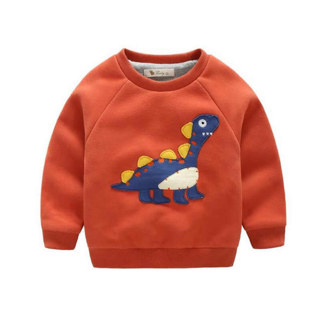 2017New мода мальчики свитер Осень/зимой носить толстый свитер новый дети досуг куртка девушки пальто теплое