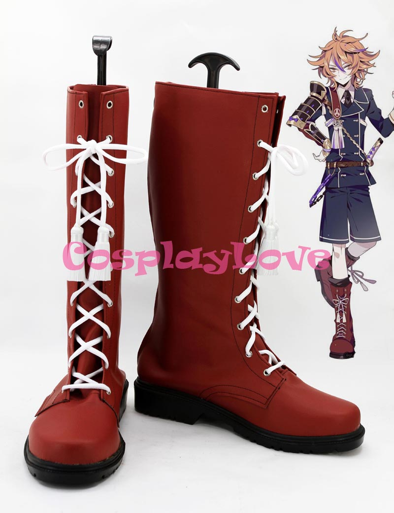Custom Made Japanese Game Touken Ranbu Online Goto Toshiro Cosplay Boots Shoes Slipper For Halloween Christmas