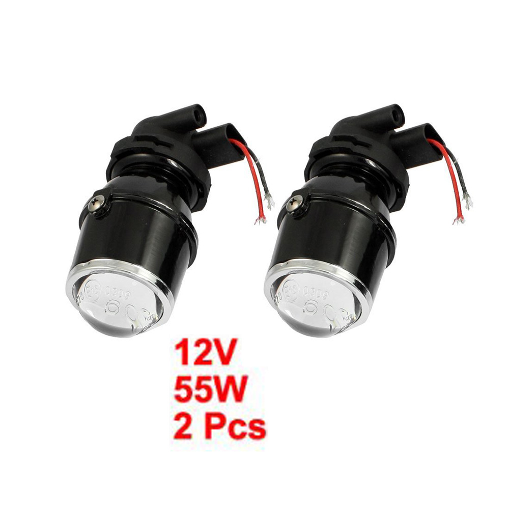 New 2 Pcs 55W H3 Universal HID Xenon Halogen Fog Light Bulb Lamp Car Auto Lens