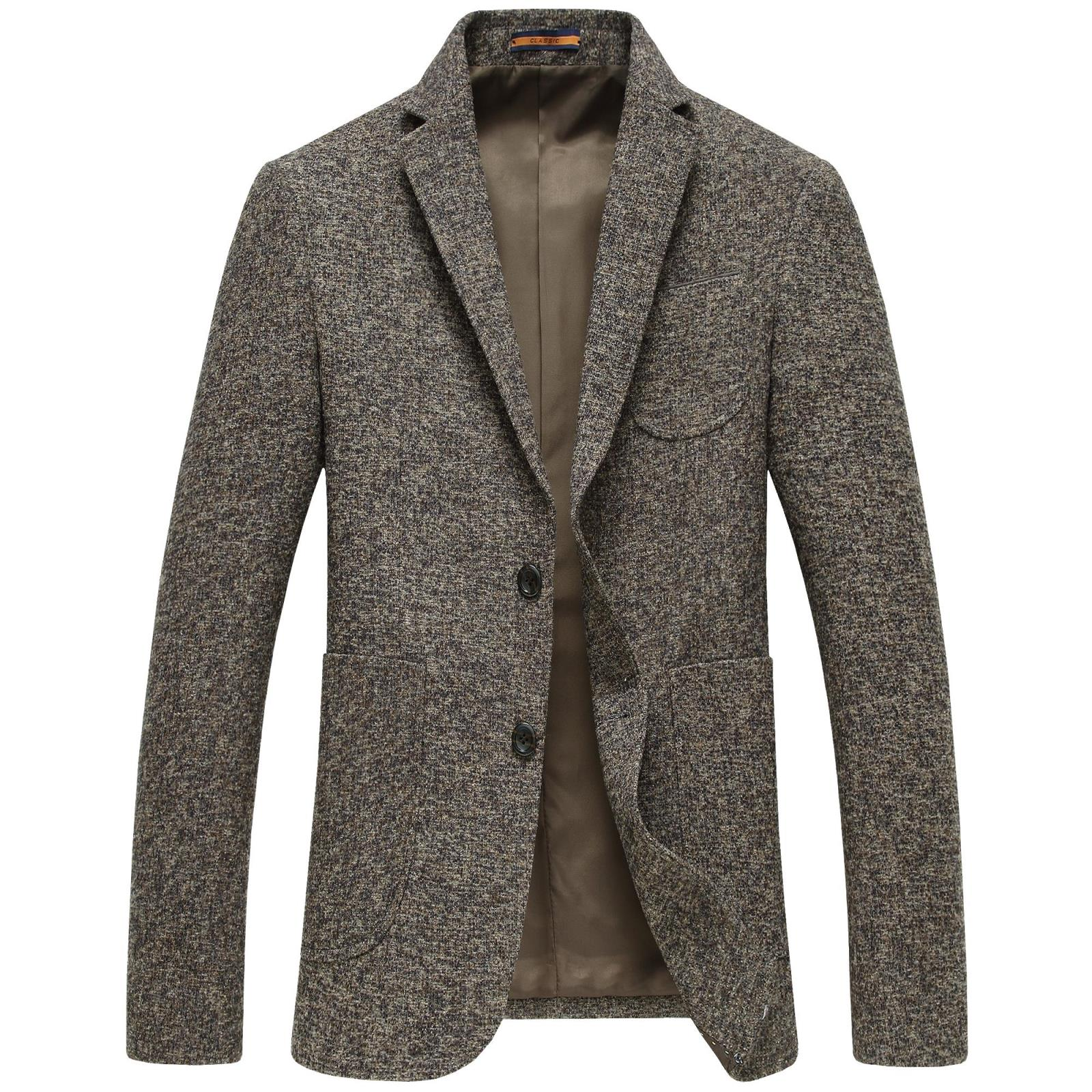 Casual Suits for Men Coat Dark brown Brand Slim Casual Jacket Masculine Fashion Jacket Formal Suit Blazer High-quality Gent Life