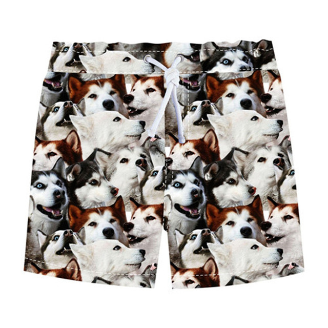 Children Beach Wear Boys Bottom Pants The Dog Printed Kids Character Sports Shorts Loose