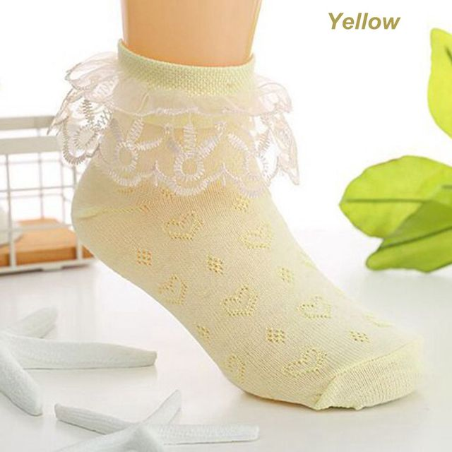 Spring Summer Baby Girls Kids Toddler Cotton Lace Ruffle Princess Mesh Socks Children Breathable Short Ankle Sock Suit 2-4 year