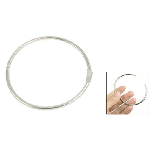 3 X Metal Staple Book Binder Loose Leaf Rings Keychain 66x60x3mm