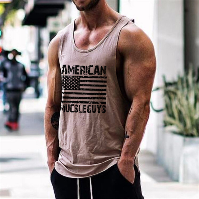 012539208 American Muscleguys Brand Fitness Clothing gyms tank top men canotta bodybuilding  stringer tank tops singlets Sleeveless