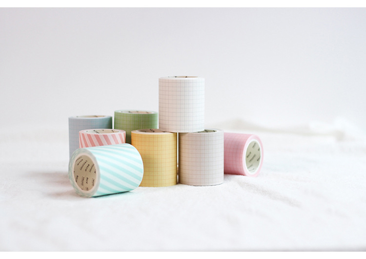 5cm 5m Kawaii Stripe Plaid Grid Washi Tape Stickers Scrapbooking Masking Tape School Supplies Bullet Journal Papeleria sl1317 in Office Adhesive Tape from Office School Supplies