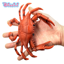 Simulation Crab Figurine Marine Sea Life Animals Models home decor figure fairy garden decoration accessories modern statue toys