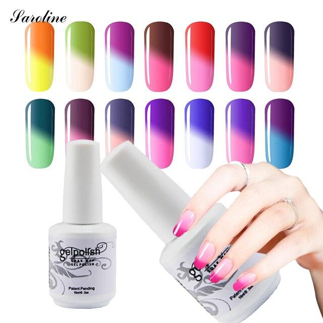 Saroline Temperature Changing nail Gel Polish Color UV Gel Nice Nail ...