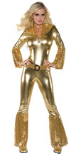 Ms Club Ds Evening Bar Sex Appeal Siamese Women's Golden Jumpsuits Micro Loudspeaker Bronzing Nightclub Ds Costumes Jumpsuits