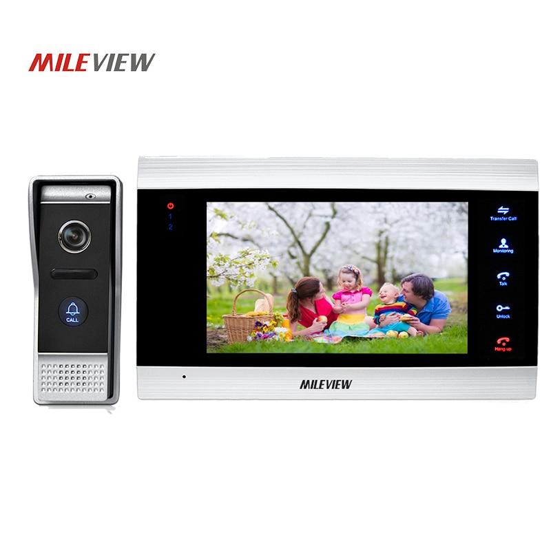 Free Shipping 800TVL HD 7 Screen Video Intercom Door Phone Record System + Night Vision Outdoor Camera 110 Angle Unlock Monitor dreambox 800 hd крайот