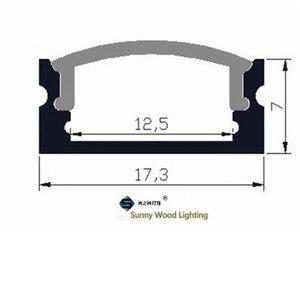 Image 5 - 10 40 компл./Лот, светодиодный алюминиевый профиль длиной 20 80 м, длиной 2 м/80 дюймов для светодиодной панели, 12 мм фотоэлемент, корпус полосы