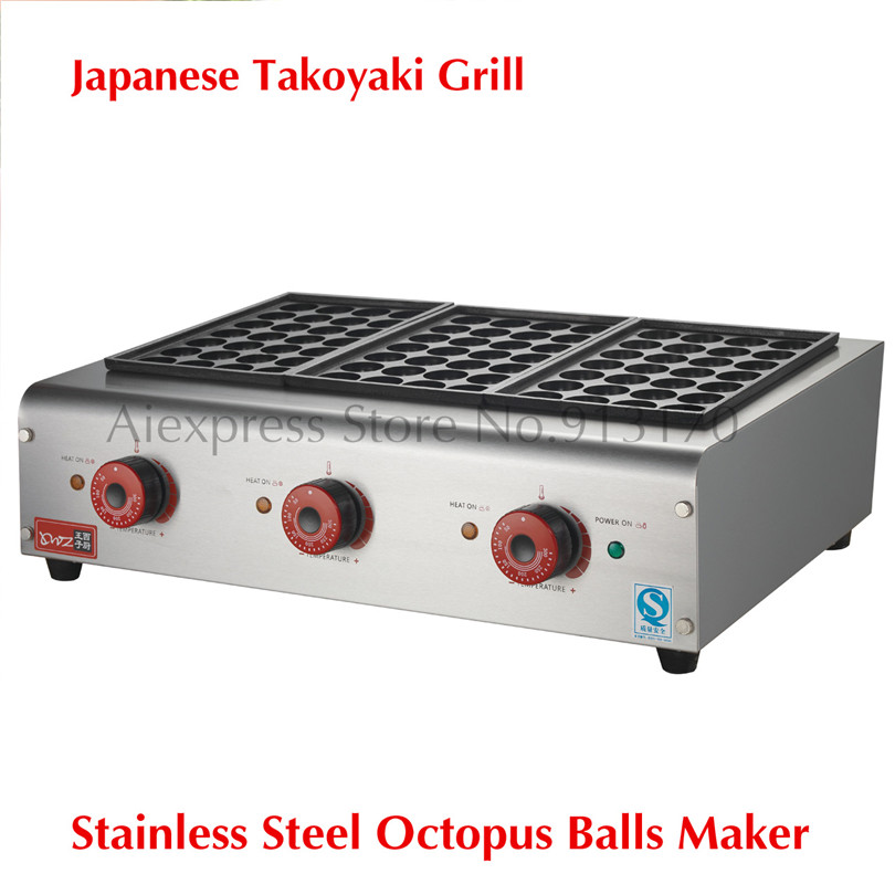 84-Balls Takoyaki Maker Electric Small Octopus Balls Griddle 220V 6KW Octopus Dumpling Machine 84 balls fried octopus dumplings grill machine japanese yakitori takoyaki gas griddle cooking octopus ball