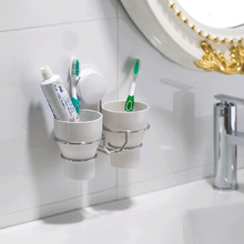 Creative sucker brushing Cup Set Toothpaste & Toothbrush Holders Couple toothbrush cup / dental equipment rack With cups