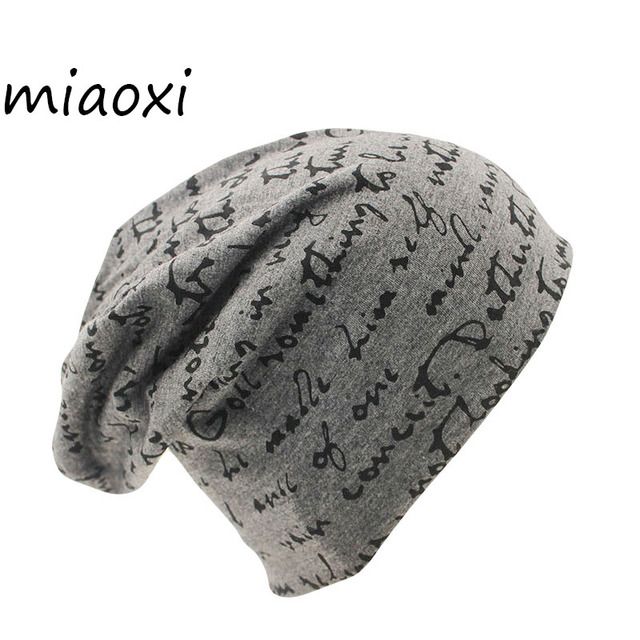 391bb09a850 miaoxi New Women Hat For Woman Winter Warm Cap Unisex Adult Letter Knitted Female  Beanie Girls