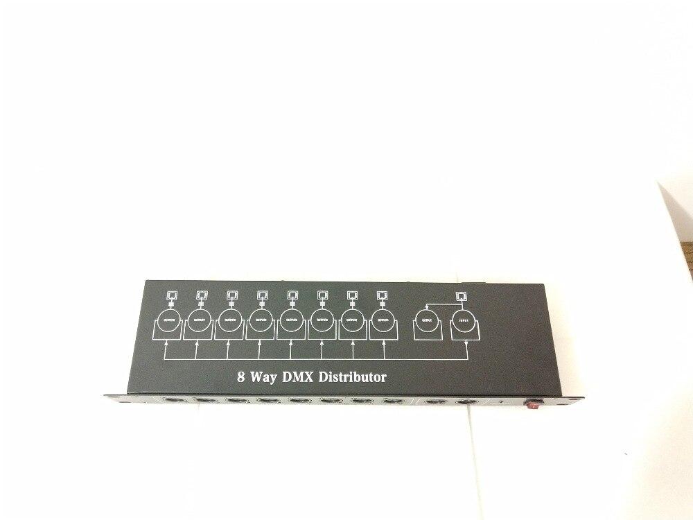 Nouvelle lumière de scène DJ DMX512 séparateur de lumière séparateur de signal amplificateurs 8 voies DMX distributeur pour équipement de scène