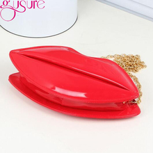 Red Lips Shape Bag