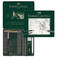 FABER CASTELL 19 piece combination water soluble sketch pencil drawing pencil set 112973