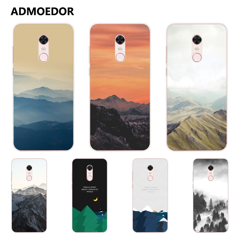 Galleria fotografica <font><b>xiaomi</b></font> <font><b>redmi</b></font> 5 plus Case,Silicon scenery Painting Soft TPU Back Cover for <font><b>xiaomi</b></font> <font><b>redmi</b></font> 5 Phone Protect bags shell