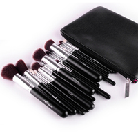 MSQ Professional 15pcs Makeup Brushes Set Powder Foundation Eyeshadow Make Up Brushes Cosmetics Soft Wool Hair