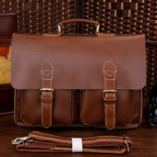 The first layer of leather briefcase handbag cool 7105x-1
