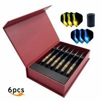Fox Smiling 6PCS 23g 158mm Professional Steel Tip Darts With Brass Barrel And Aluminum Darts Shafts