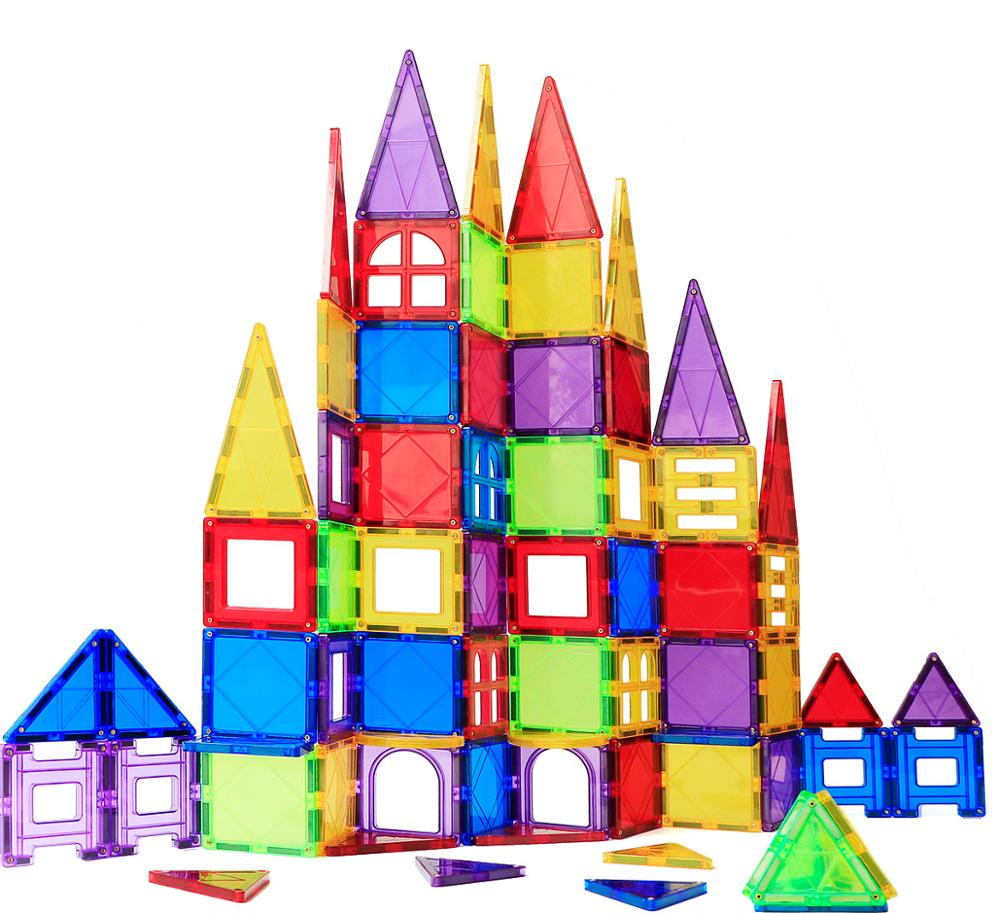 70Pcs BigSize Magnetic Building Blocks Toys For Children Magnets Kids Educational Construction Toy Birthday Present Holiday Gift