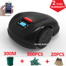 Two Year Warranty Smartphone APP Contorl Intelligent Grass Cutter With 13.2AH Li-ion Battery+300m wire+300pcs pegs+20pcs Blade