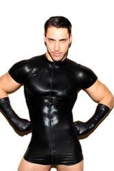 Пикантные Для мужчин ПВХ кожа на молнии боди комбинезон Комбинезон Clubwear S-3XL пикантные ПВХ кожа блестящая секс-боди Для мужчин
